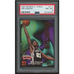 1997-98 Z-Force #111 Tim Duncan RC (PSA 8)