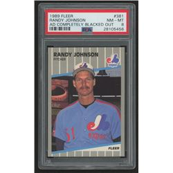 1989 Fleer #381 Randy Johnson RC (PSA 8)