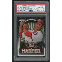 2011 Bowman Chrome Bryce Harper Retail Exclusive #BCE1S Bryce Harper Silver (PSA 8)