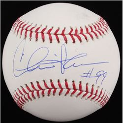 Charlie Sheen Signed OML Baseball (MAB Hologram)