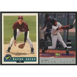 Lot of (2) Derek Jeter Cards with 1992 Classic Draft Picks #6  1992 Classic / Best Blue Bonus #BC22
