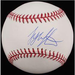 Tyler Austin Signed OML Baseball (MAB Hologram)