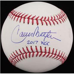 Carlos Beltran Signed OML Baseball Inscribed  2017 WSC  (MAB Hologram)