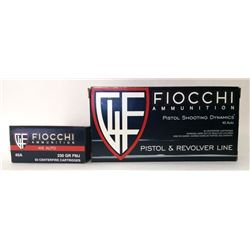 Two Boxes of Fiocchi 45 Auto.