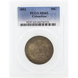 1893 Columbian Centennial Commemorative Half Dollar Coin PCGS MS65