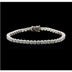 18KT White Gold 7.06 ctw Diamond Tennis Bracelet