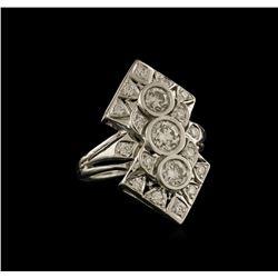 1.47 ctw Diamond Ring - 14KT White Gold