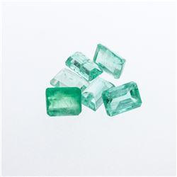 4.95 cts. Natural Emerald Cut Emerald Parcel