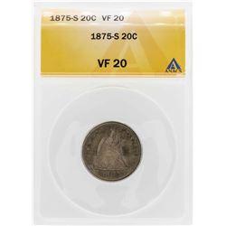 1875-S Twenty Cent Piece Coin ANACS VF20