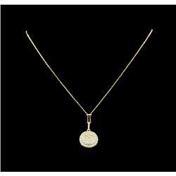 1.25 ctw Diamond Necklace - 14KT Yellow Gold