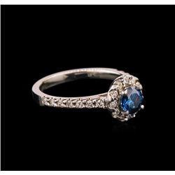 1.00 ctw Blue Diamond Ring - 14KT White Gold