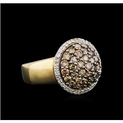 14KT Yellow Gold 1.79 ctw Brown Diamond Ring