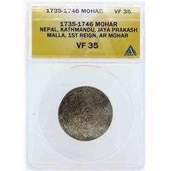 1735-1746 Mohar Coin ANACS VF35