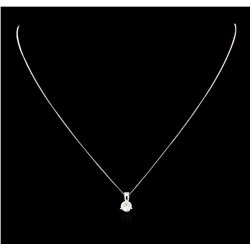 0.70 ctw Diamond Pendant And Chain - 14KT White Gold