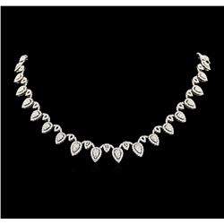 14.06 ctw Diamond Necklace - 18KT White Gold