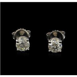 14KT White Gold 1.19 ctw Diamond Stud Earrings