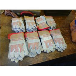 Lot of Industrial Work Gloves, Small to Medium Sizes