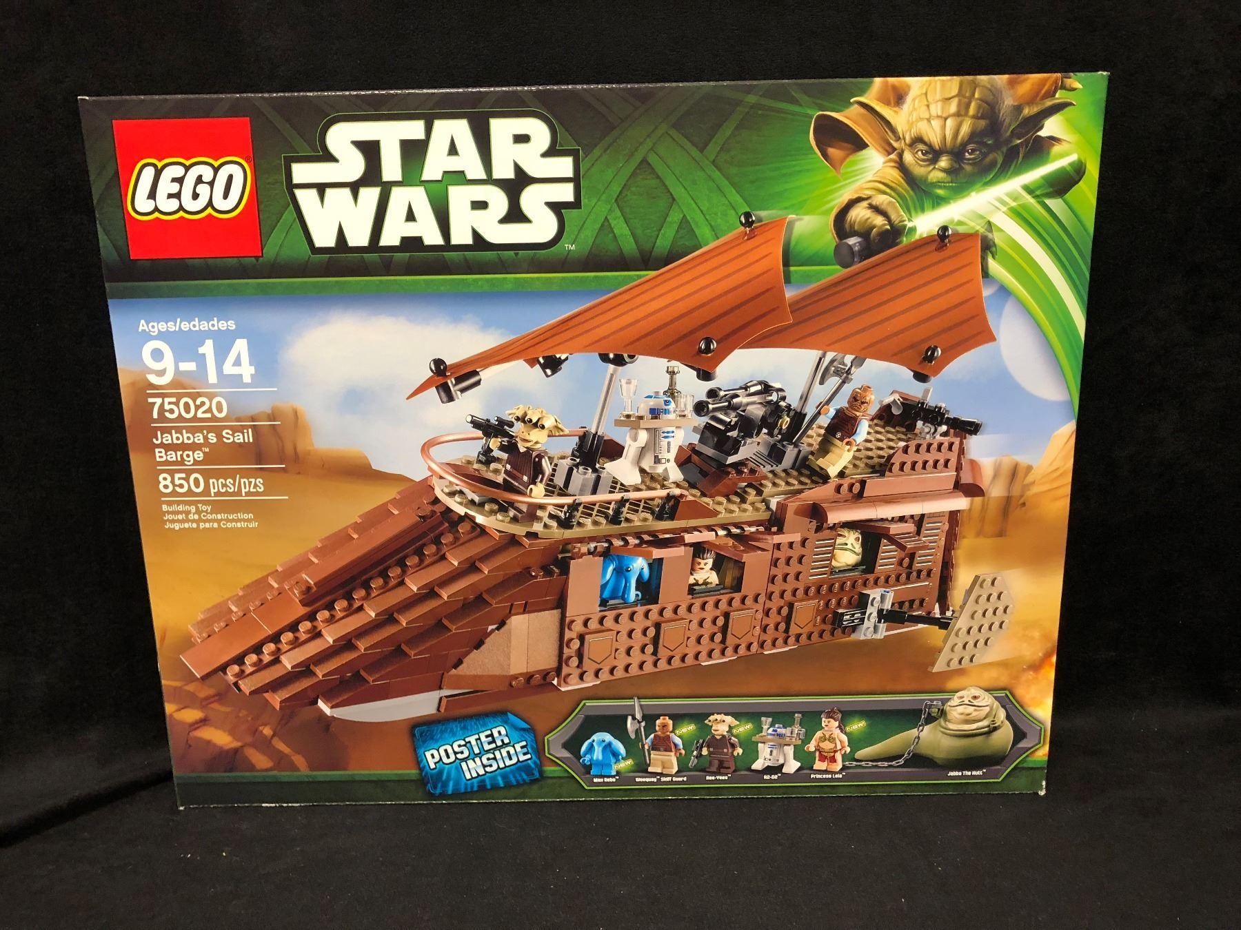 Lego Star Wars Jabbas Sail Barge 75020 W Box