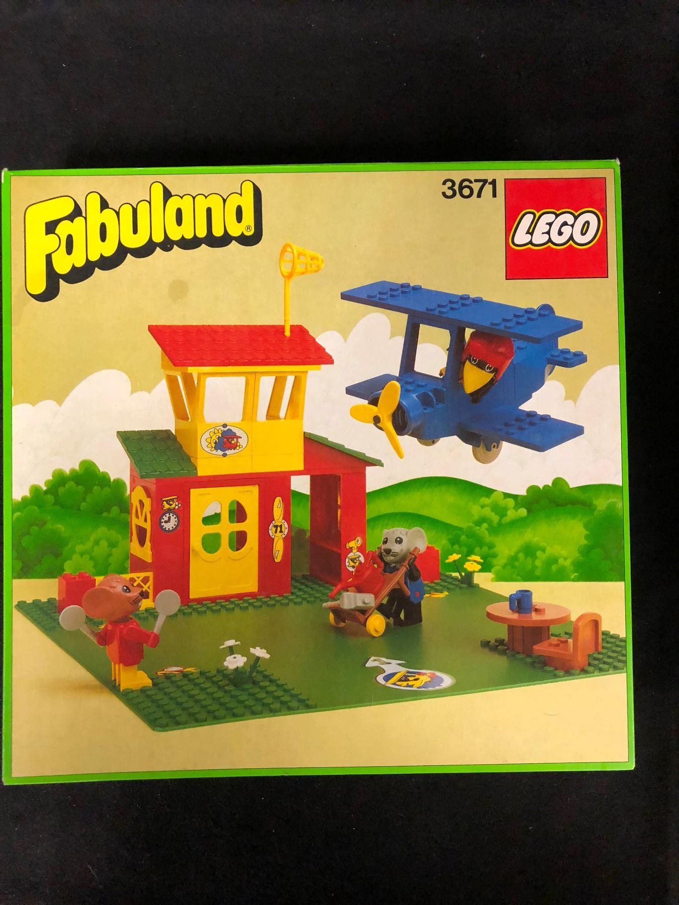 Vintage Lego Fabuland 3671 W Box