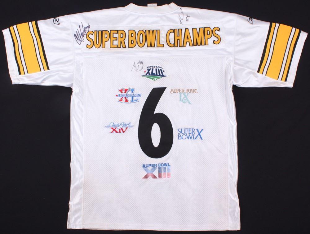 online retailer 95ff4 a7af1 Ryan Clark, Chris Hoke & Alejandro Villanueva Signed Steeler Super Bowl  Champ Jersey (JSA COA)