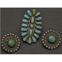 NAVAJO RING AND EARRINGS