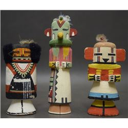 THREE HOPI RT 66 DOLLS