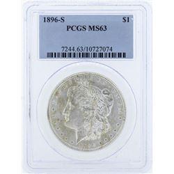 1896-S $1 Morgan Silver Dollar Coin PCGS MS63