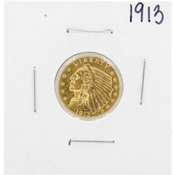 1913 $2 1/2 Indian Head Quarter Eagle Coin