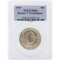 1947 Booker T Washington Memorial Commemorative Half Dollar Coin PCGS MS66