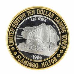 .999 Silver Flamingo Las Vegas Nevada $10 Casino Limited Edition Gaming Token