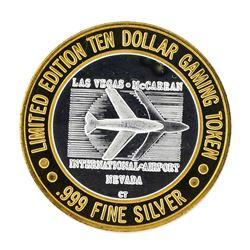 .999 Silver McCarran International Airport Las Vegas, NV $10 Limited Casino Toke