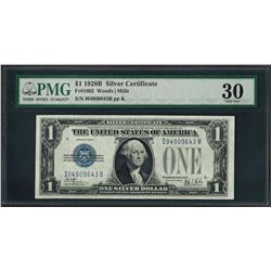 1928B $1 Funnyback Silver Certificate Note Fr.1602 PMG Very Fine 30