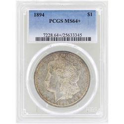 1894 $1 Morgan Silver Dollar Coin PCGS MS64+