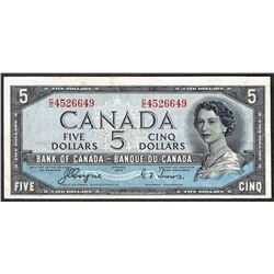 1954 $5 Bank of Canada Note Devils Face