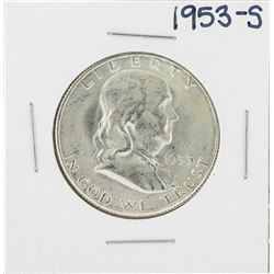 1953-S Franklin Half Dollar Silver Coin