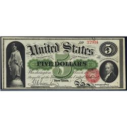 1863 $5 Legal Tender Note Fr.63a