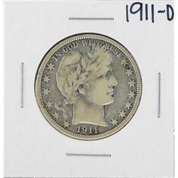 1911-D Barber Half Dollar Silver Coin