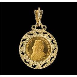 1982 1/4 Krugerrand Gold Coin Pendant