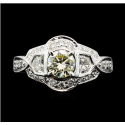 18KT White Gold 1.40 ctw Diamond Ring