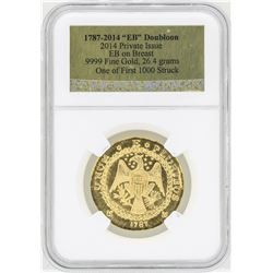 1787-2014 Private Issue EB Doubloon .9999 Fine Gold Coin