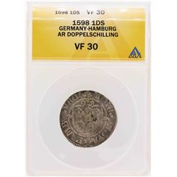 1598 German-Hamburg AR Doppelschilling Coin ANACS VF30