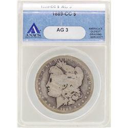 1889-CC $1 Morgan Silver Dollar Coin ANACS AG3