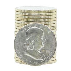 Roll of (20) 1959-P Brilliant Uncirculated Franklin Half Dollars