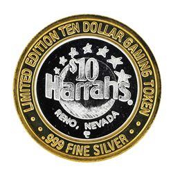 .999 Fine Silver Harrah's Reno, Nevada $10 Casino Limted Edition Gaming Token