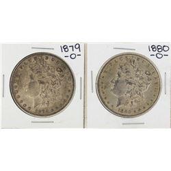Lot of 1879-O & 1880-O $1 Morgan Silver Dollar Coins