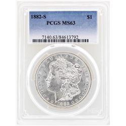 1882-S $1 Morgan Silver Dollar Coin PCGS MS63