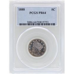 1888 Liberty V Nickel Proof Coin PCGS PR64