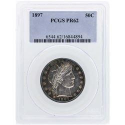 1897 Barber Half Dollar Proof Coin PCGS PR62