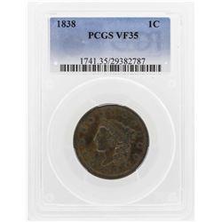 1838 Cornet Head Cent PCGS VF35