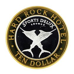 .999 Silver Hard Rock Hotel Las Vegas, Nevada $10 Casino Limted Edition Gaming T
